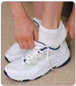 Tight or improperly fitted footwear can cause bursitis