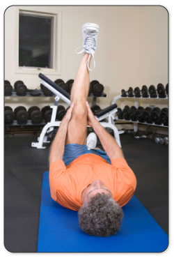 After your tissue is warmed up your PT will guide you through stretches to improve mobility.