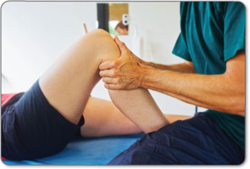 Physical therapists will manually manipulate your leg to increase flexibility of your bursitis after surgery.
